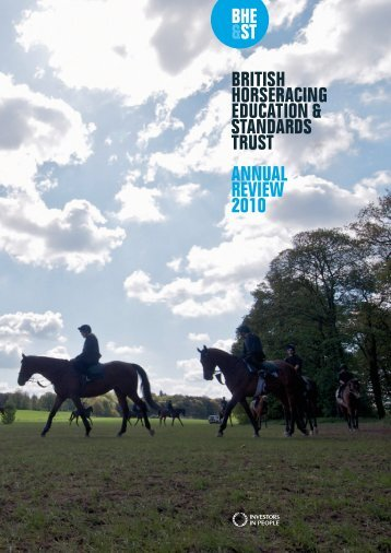 annual review - The British Horseracing Education & Standards Trust