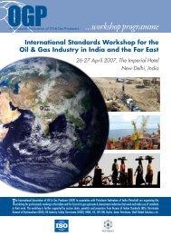 …workshop programme - OGP activities home
