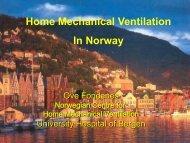 Home Mechanical Ventilation In Norway - Helse Bergen