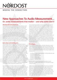 New Approaches To Audio Measurement.pdf - Nordost