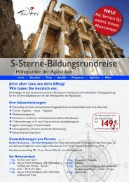 5-Sterne-Bildungsrundreise - Verlag Neuer Merkur GmbH