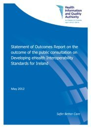 Statement of Outcomes Report on the outcome of the public ... - hiqa.ie