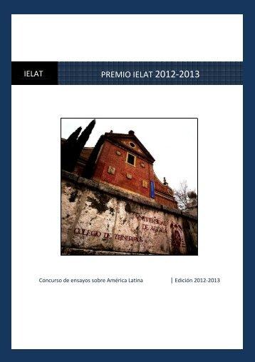 Premio IELAT 2012-2013