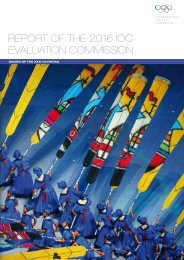report of the 2016 ioc evaluation commission - International Olympic ...