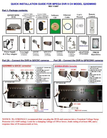 quick installation guide for mpeg4 dvr 9 ch model q25dm99d q see rh yumpu com q see installation guide q-see camera installation guide