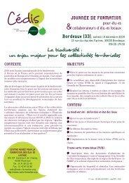 Programme - Cédis Formation