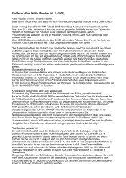 Zur Sache - Eine Welt in München (Nr. 2 - 2006) Faire Fußball WM ...