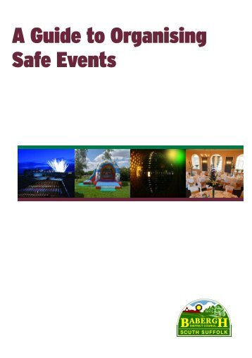 A Guide To Organising Safe Events Leaflet - Start Now