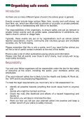 A Guide To Organising Safe Events Leaflet - Start Now - Page 2