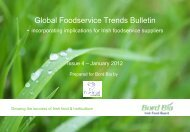 Global Foodservice Trends Bulletin - incorporating ... - IFSA