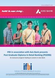 IFBI in association with Axis Bank presents Post Graduate ... - IFBI.com