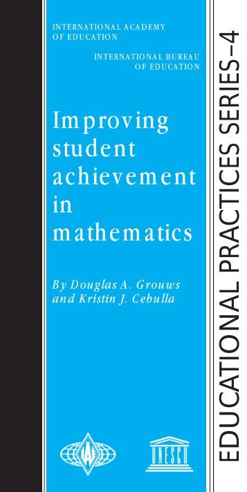 Improving student achievement in mathematics - International ...