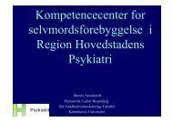 Kompetencecenter for selvmordsforebyggelse i Region ...