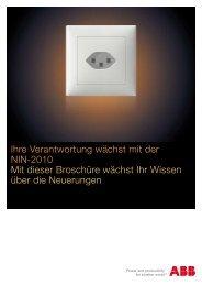 Ihre Verantwortung wächst mit der NIN - 2010 - ABB Schweiz AG ...