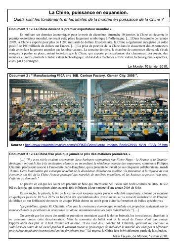La Chine - Histoire géographie Dijon