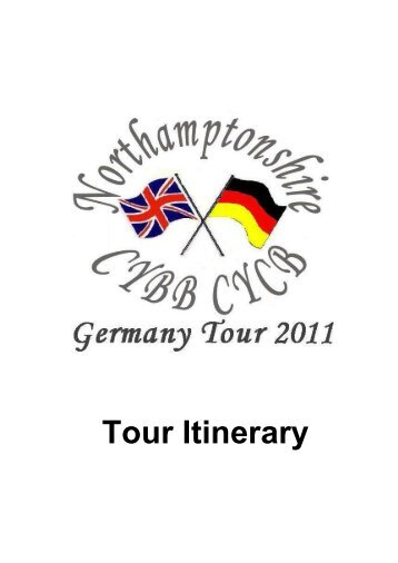 Tour Itinerary (PDF format 73KB) - Northamptonshire County Council