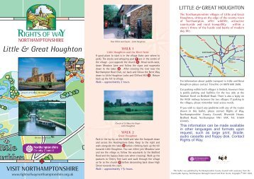 Little and Great Houghton - Northamptonshire County Council