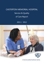 casterton memorial hospital - South West Alliance of Rural Health