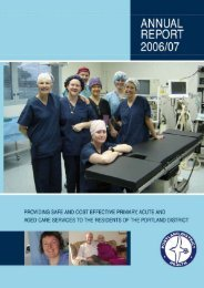Portland District Health Annual Report 2007 - South West Alliance of ...