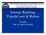 Islamic Banking, Takaful and Al Rahnu