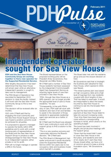 PDH Newsletter - South West Alliance of Rural Health