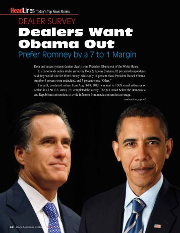 Dealers Want Obama Out, Fall 2012 - Dasma.com