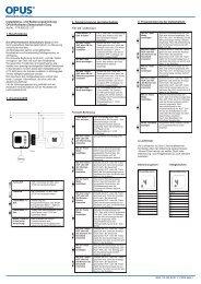 Rollladen-Zeitschaltuhr Easy (Art.-Nr. 774.626.xx) - OPUS Schalter