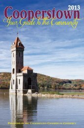 Your Guide to the Community - Cooperstown Chamber of Commerce
