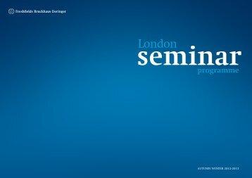 London seminar - Freshfields