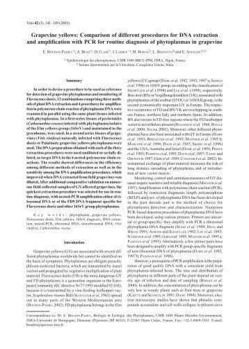 Grapevine yellows: Comparison of different procedures ... - Vitis-vea