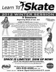 Learn to Skate Registration Winter 2012 - Sports Center of Connecticut