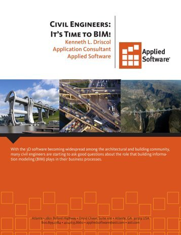 Civil Engineers: It's Time to BIM! - Applied Software