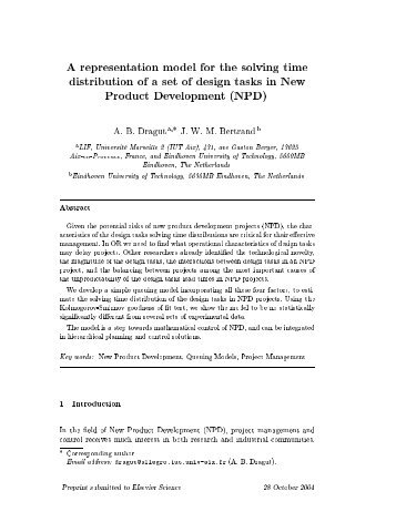 A representation model for the solving time distribution of a set of ...