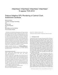 Feature Adaptive GPU Rendering of Catmull-Clark Subdivision