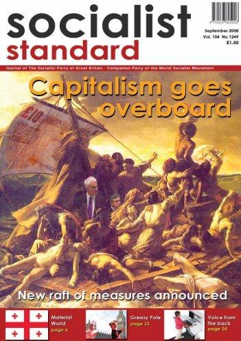 1 Socialist Standard September 2008 - World Socialist Movement