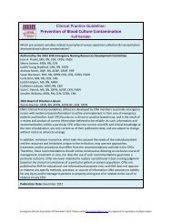 Prevention of Blood Culture Contamination - Emergency Nurses ...