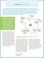 Analyse du cycle de vie - Éco Entreprises Québec