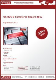 UK B2C E-Commerce Report 2012 - yStats.com