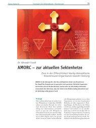 AMORC – zur aktuellen Sektenhetze