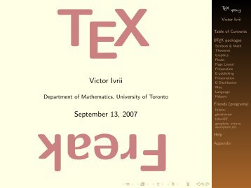 TeX Freak. Part II - Victor Ivrii - University of Toronto