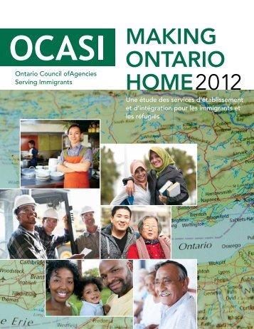 MAKING ONTARIO HOME2012 - OCASI