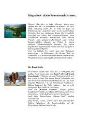 Klagenfurt - (k)ein Sommernachtstraum...
