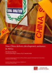 How China delivers development assistance to Africa - Collection ...