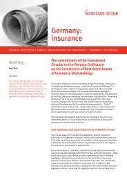 Germany: insurance - Norton Rose