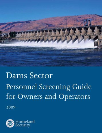 Personnel Screening Guide for Owners and Operators