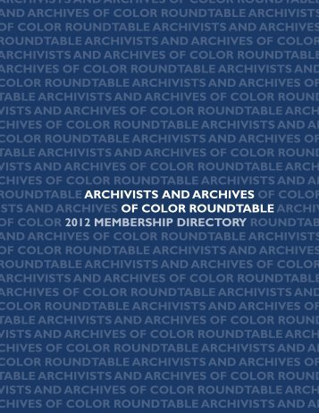 Archivists of Color Membership Directory - Society of American ...