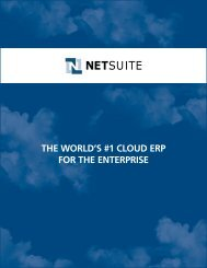 The World's #1 Cloud erP for The enTerPrise - NetSuite