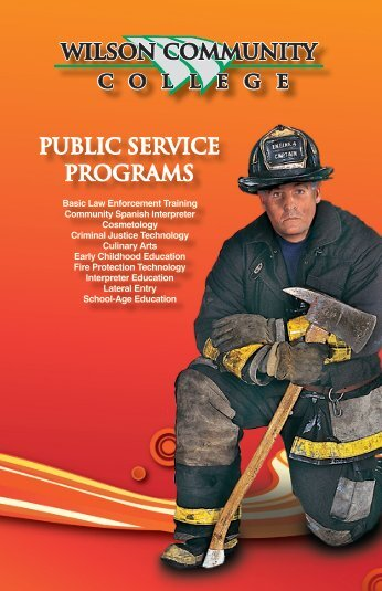 public service programs - Wilson Community College