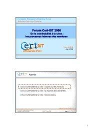 Les processus internes des membres - Cert-IST