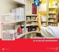 Et åbenhjertigt hospital – på vej mod øget patientsikkerhed